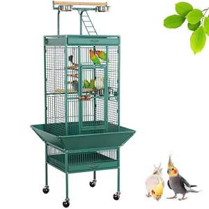Yaheetech 62-inch Wrought Iron Rolling Large Bird Cage