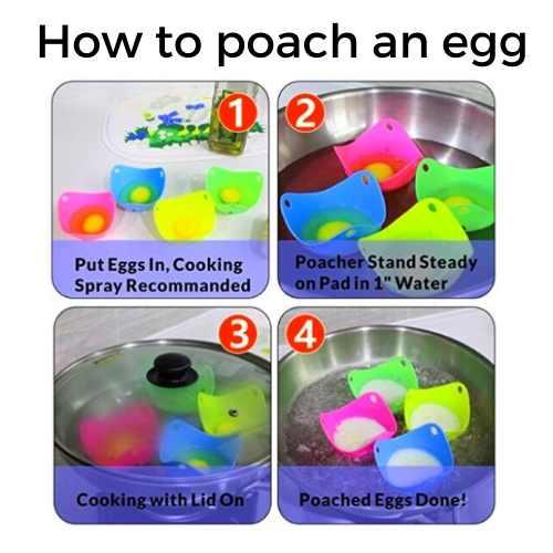 Top 3 Silicone egg poacher cups