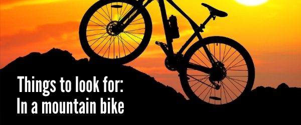 Things to look for: In a mountain bike